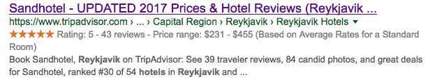 Iceland Hotel Ratings