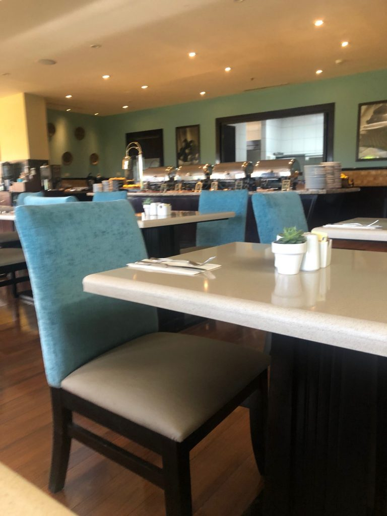Breakfast Area at the Hilton