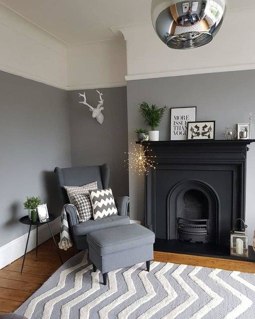 Grey color in the interior design